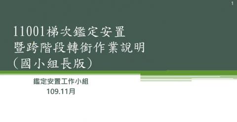 11001鑑定安置暨跨階段轉銜說明會(國小場)